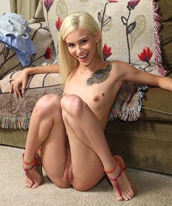 Petite blonde